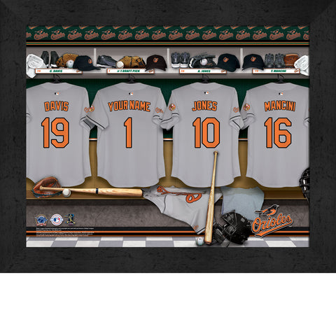 Personalized Baltimore Orioles MLB  Locker Room Sign