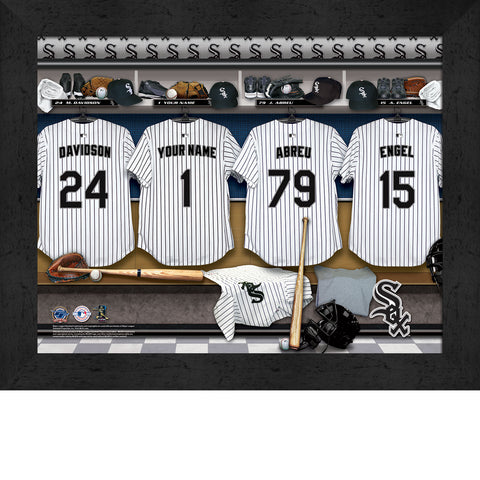 Personalized Chicago White Sox MLB  Locker Room Sign