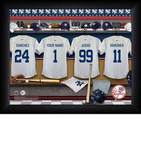 New York Yankees MLB Locker Room Sign - Personalized