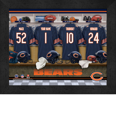 Personalized NFL Locker Room Signs - Chicago Bears