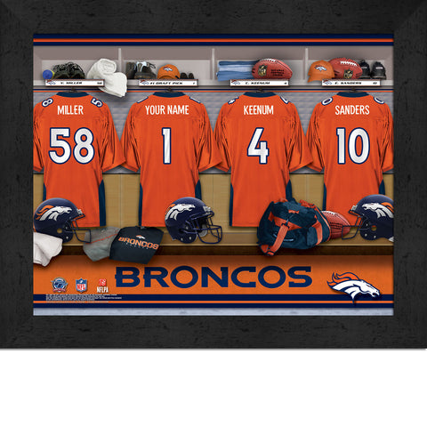 Personalized NFL Locker Room Signs - Denver Broncos