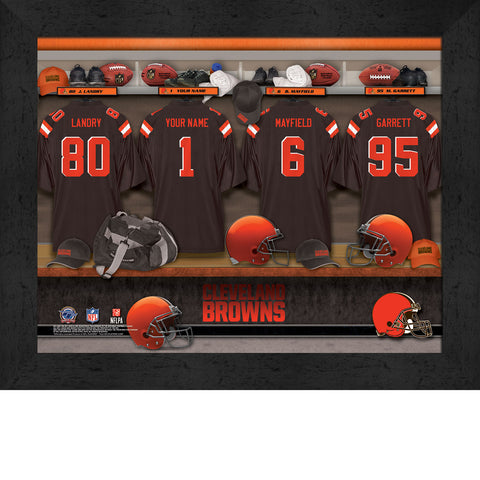 Personalized NFL Locker Room Signs - Cleveland Browns