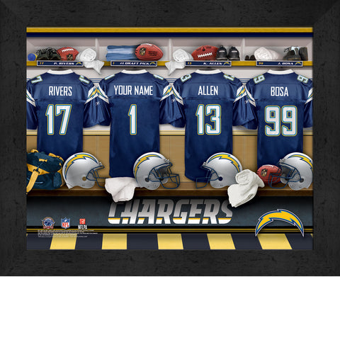 Personalized NFL Locker Room Signs - Los Angeles Chargers