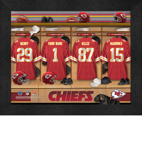 Personalized NFL Locker Room Signs - Kansas City Chiefs