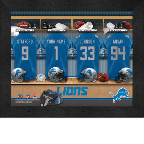 Personalized NFL Locker Room Signs - Detroit Lions