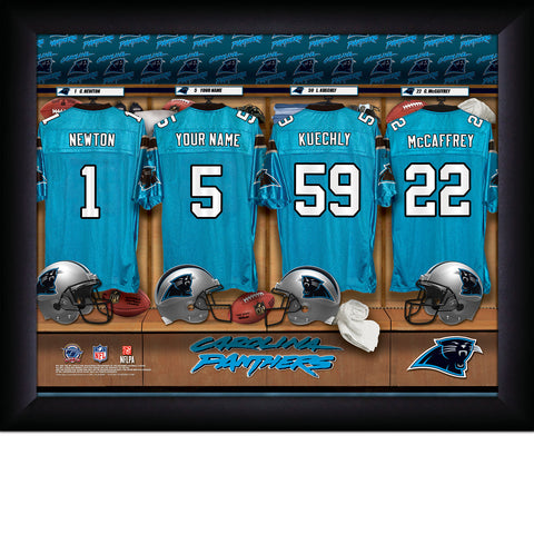 Personalized NFL Locker Room Signs - Carolina Panthers