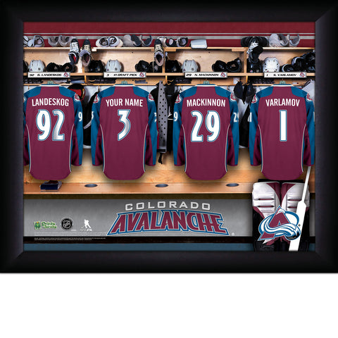 Personalized NHL Colorado Avalanche Locker Room Sign