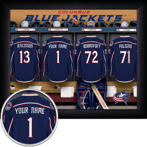 Personalized NHL Columbus Bluejackets Locker Room Sign