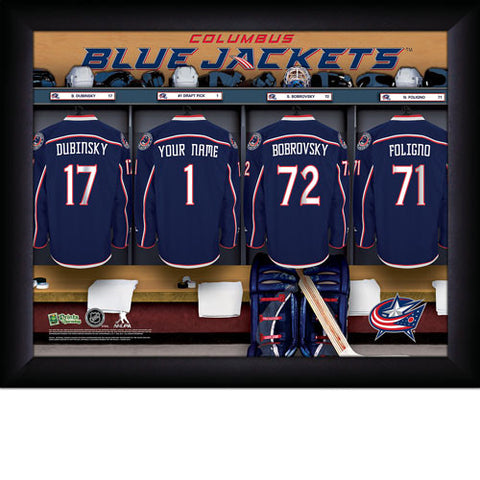 Personalized NHL Columbus Blue Jackets Locker Room Sign