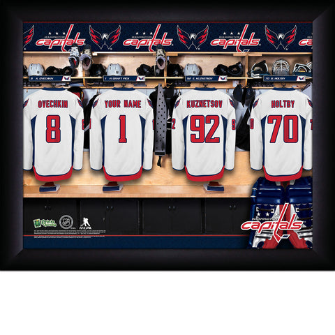 Personalized NHL Washington Capitals Locker Room Sign