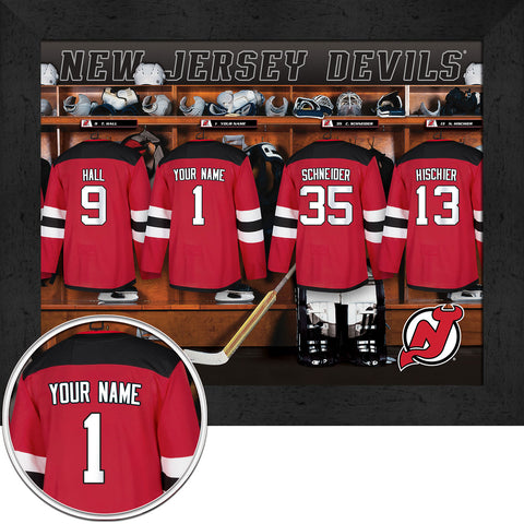 Personalized NHL New Jersey Devils Locker Room Sign