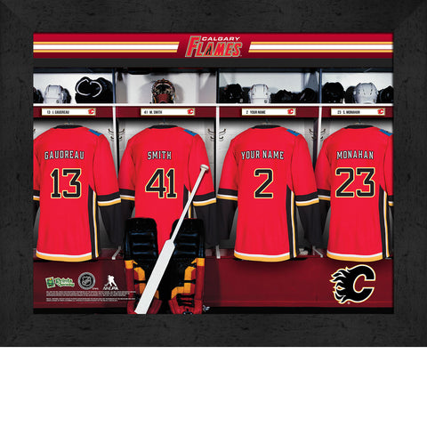 Personalized NHL Calgary Flames Locker Room Sign