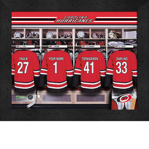 Personalized NHL Carolina Hurricanes Locker Room Sign