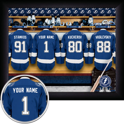 Personalized NHL Tampa Bay Lightning Locker Room Sign