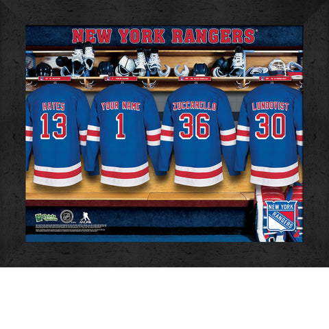 Personalized NHL New York Rangers Locker Room Sign