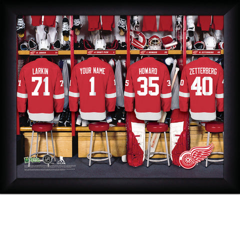 Personalized NHL Detroit Red Wings Locker Room Sign