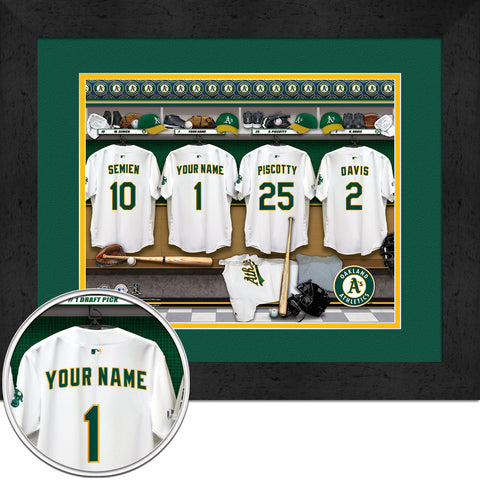 Personalized Oakland Athletics MLB Locker Room Sign