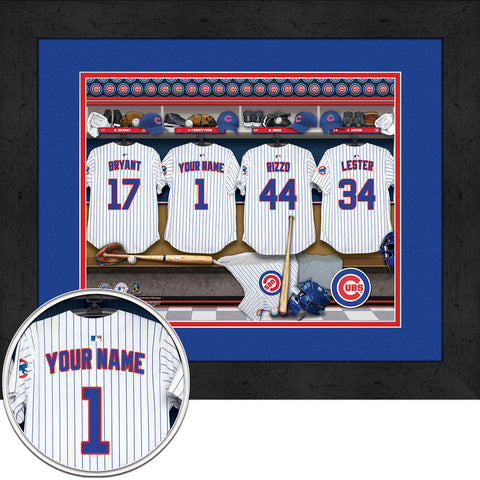 Personalized Chicago Cubs MLB  Locker Room Sign