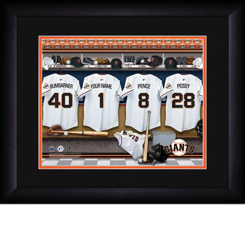 Personalized San Francisco Giants MLB Locker Room Sign