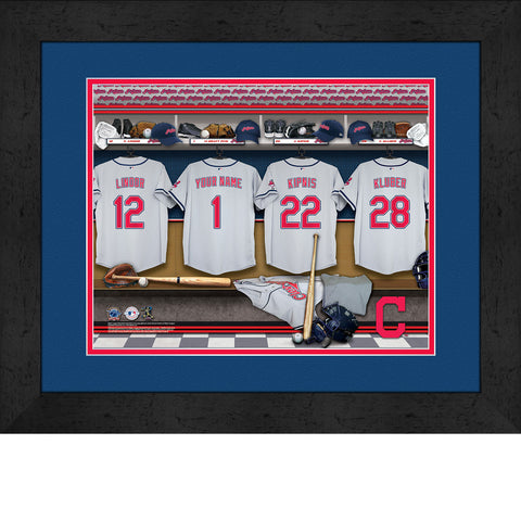 Personalized Cleveland Indians MLB  Locker Room Sign
