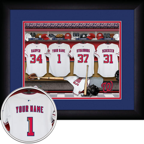 Personalized Washington Nationals MLB Locker Room Sign