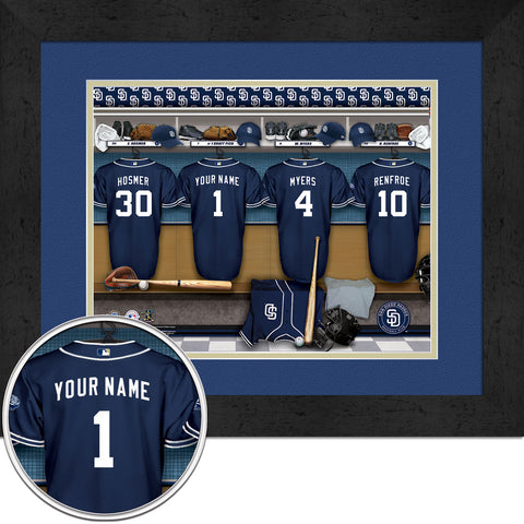 Personalized San Diego Padres MLB Locker Room Sign