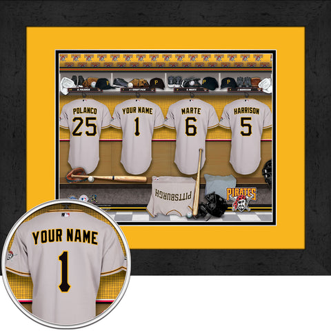 Personalized Pittsburgh Pirates MLB Locker Room Sign