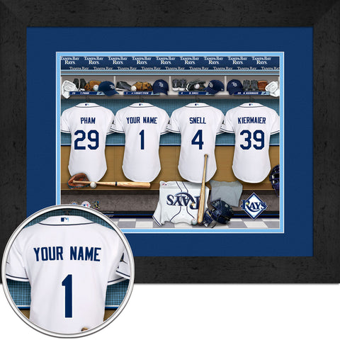 Personalized Tampa Bay Rays MLB Locker Room Sign