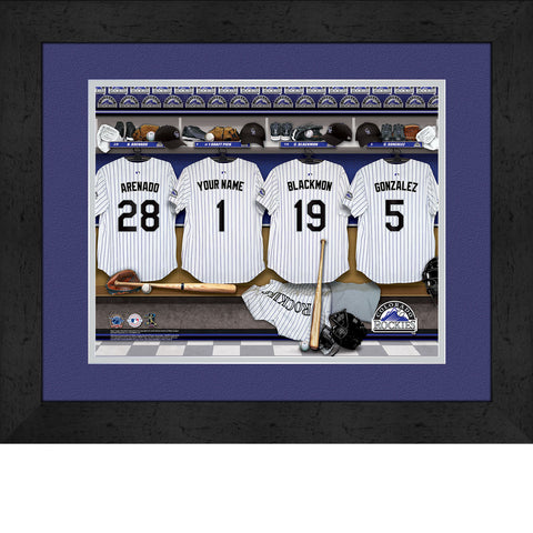 Personalized Colorado Rockies MLB Locker Room Sign