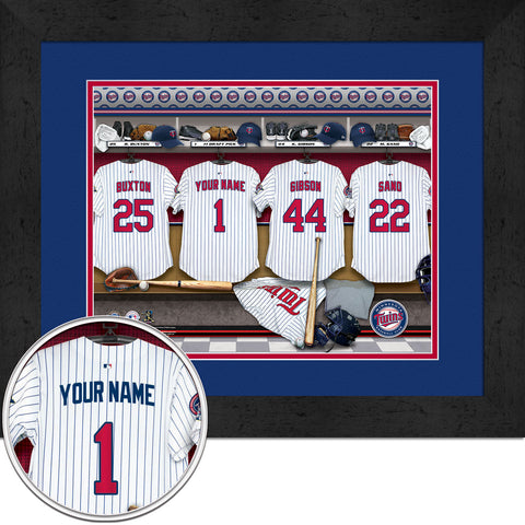 Personalized Minnesota Twins MLB Locker Room Sign