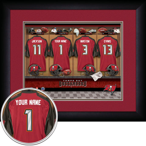 Personalized NFL Locker Room Signs - Tampa Bay Buccaneers