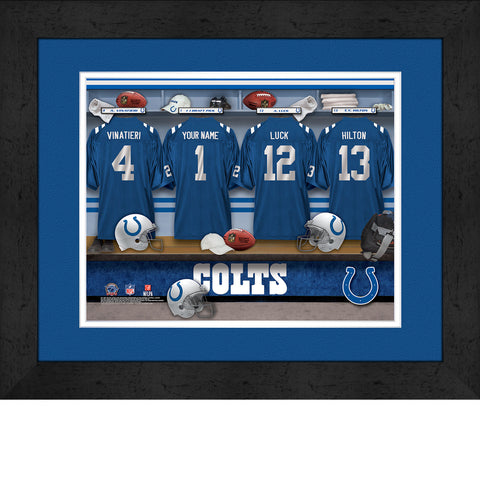 Personalized NFL Locker Room Signs - Indianapolis Colts