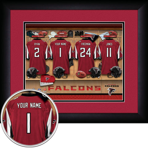 Personalized NFL Locker Room Signs - Atlanta Falcons