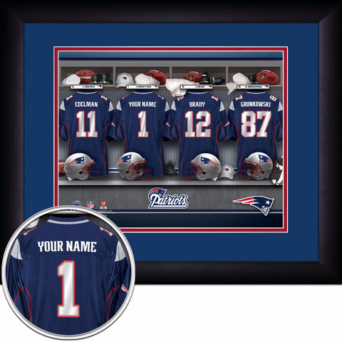 Personalized New England Patriots NFL Locker Room Signs