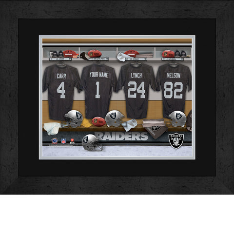 Personalized NFL Locker Room Signs - Oakland Raiders