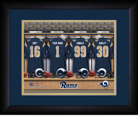 Personalized Los Angeles Rams  NFL Locker Room Signs
