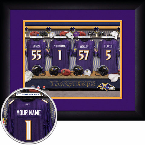Personalized Baltimore Ravens NFL Locker Room Signs