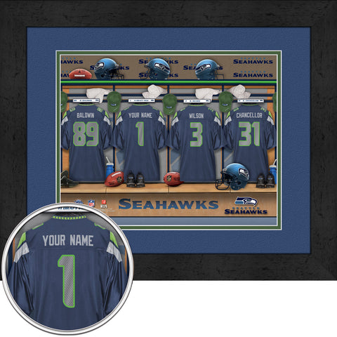 Personalized NFL Locker Room Signs - Seattle Seahawks