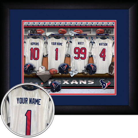 Personalized Houston Texans NFL Locker Room Signs