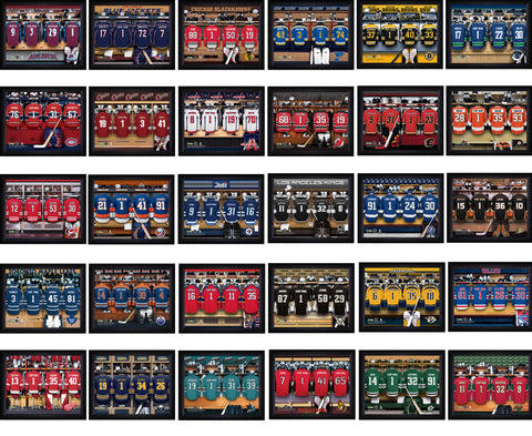 Personalized NHL Locker Room Signs - All Teams