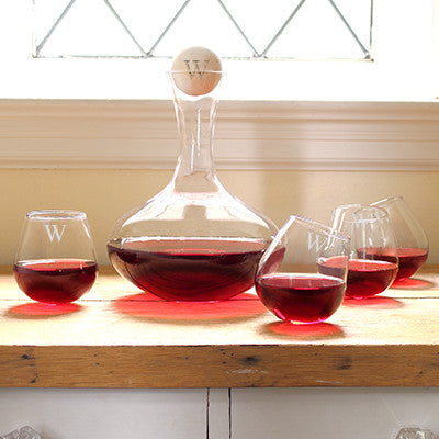 Wine Decanter & Tipsy Tasters Set