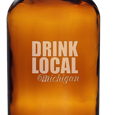 Personalized Drink Local 16 oz. Bullet Growlettes