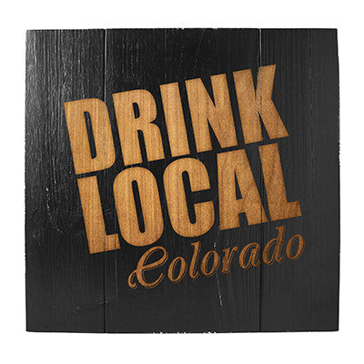 Personalized Drink Local Brew Wood Sign