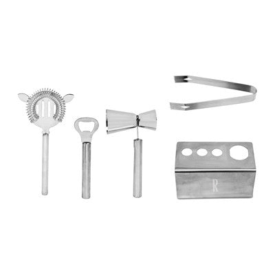 Personalized Stainless Steel Mixology Set