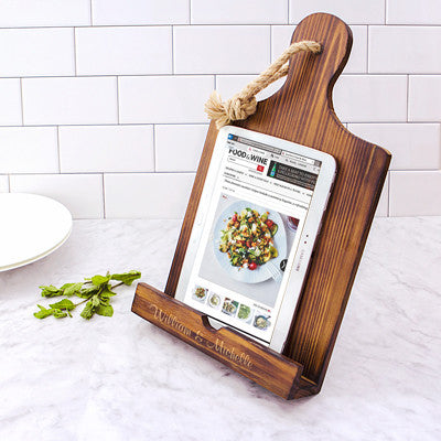 Personalized Wooden iPad & Recipe Stand