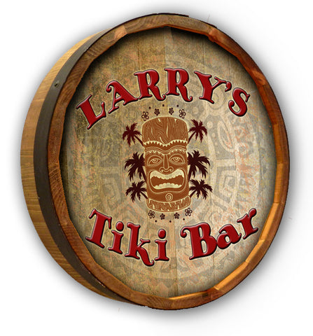 Personalized Tiki Bar Quarter Barrel Sign