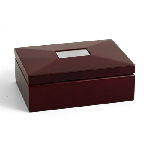 Personalized Premium Wood Keepsake Box in Mahogany Finish
