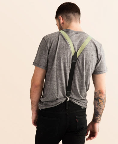 Egyptian Sands - Classic Olive Suspenders