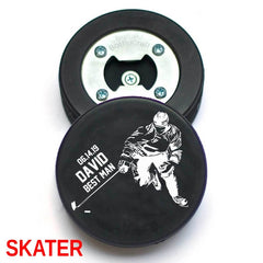 Personalized Hockey Puck Bottle Opener