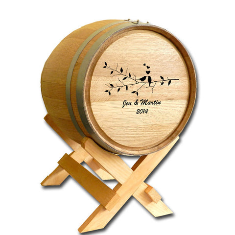 5 Gallon Wedding Barrel  - Birds